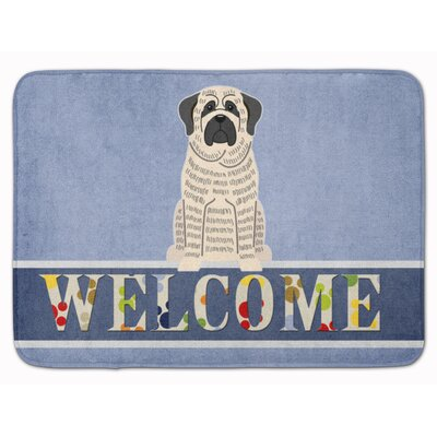 Rendville Mastiff Brindle Welcome Memory Foam Bath Rug Color: Gray