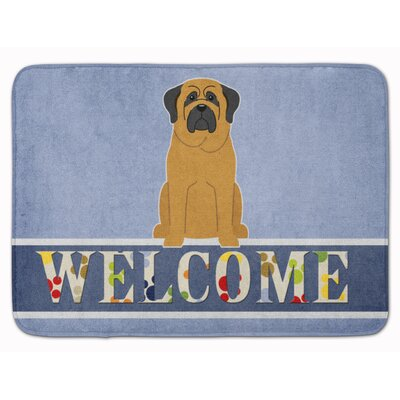 Rendville Mastiff Welcome Memory Foam Bath Rug