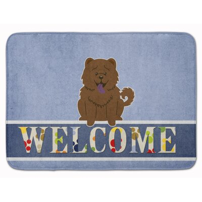 Chow Chow Welcome Memory Foam Bath Rug Color: Chocolate
