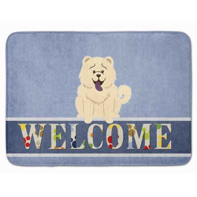 Chow Chow Welcome Memory Foam Bath Rug Color: White