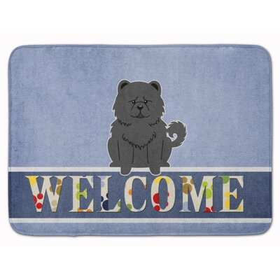 Chow Chow Welcome Memory Foam Bath Rug Color: Black