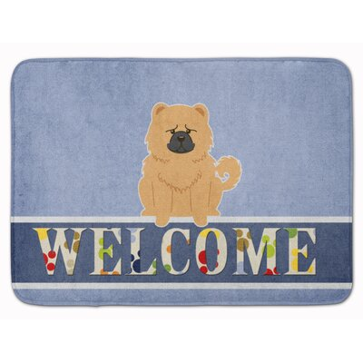 Chow Chow Welcome Memory Foam Bath Rug Color: Cream