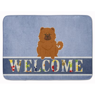 Chow Chow Welcome Memory Foam Bath Rug Color: Red
