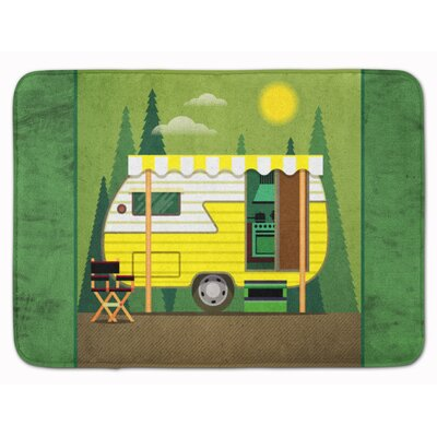 Cress Retro Camper Memory Foam Bath Rug