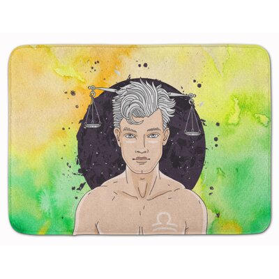 Libra Zodiac Sign Memory Foam Bath Rug