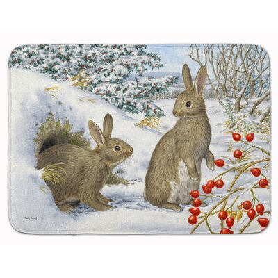 Winter Rabbits Memory Foam Bath Rug