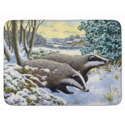 Winter Badger Memory Foam Bath Rug