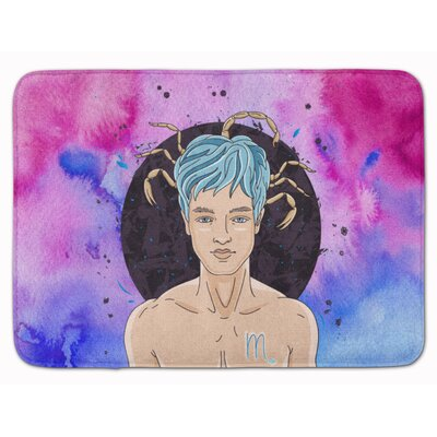 Scorpio Zodiac Sign Memory Foam Bath Rug