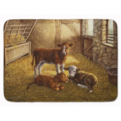 Cows Calves in the Barn Memory Foam Bath Rug