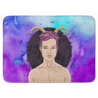 Capricorn Zodiac Sign Memory Foam Bath Rug