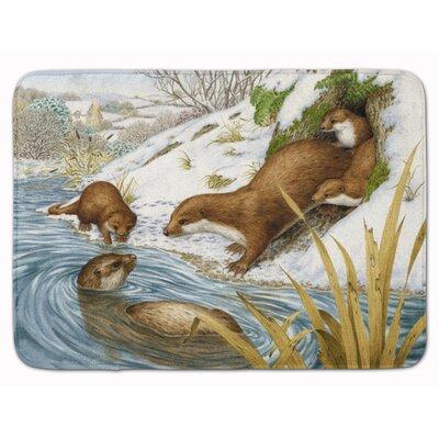 Otter Playtime Memory Foam Bath Rug