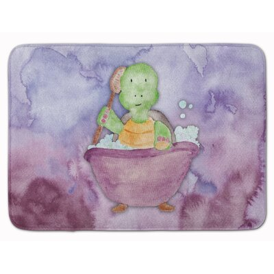 Xavier Turtle Bathing Watercolor Memory Foam Bath Rug