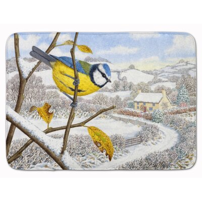 Winter Eurasian Tit Memory Foam Bath Rug