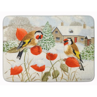 European Goldfinch Memory Foam Bath Rug