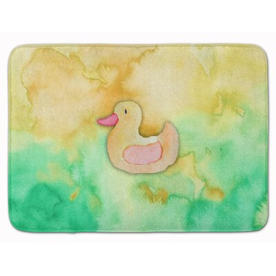 Rubber Duckie Watercolor Memory Foam Bath Rug