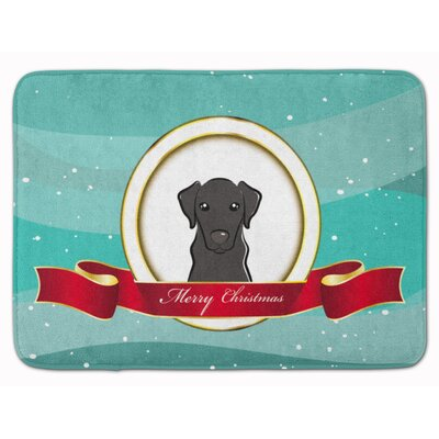 Labrador Merry Christmas Memory Foam Bath Rug