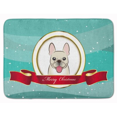 French Bulldog Merry Christmas Memory Foam Bath Rug