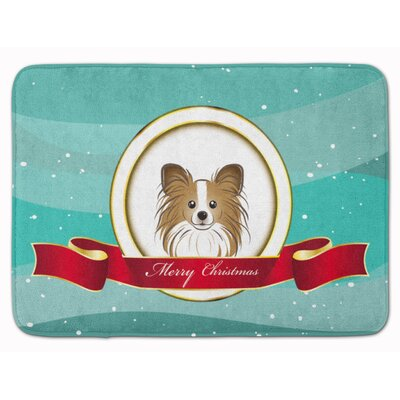 Papillon Merry Christmas Memory Foam Bath Rug