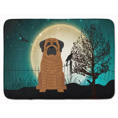 Halloween Scary Mastiff Brindle Memory Foam Bath Rug Color: Brown