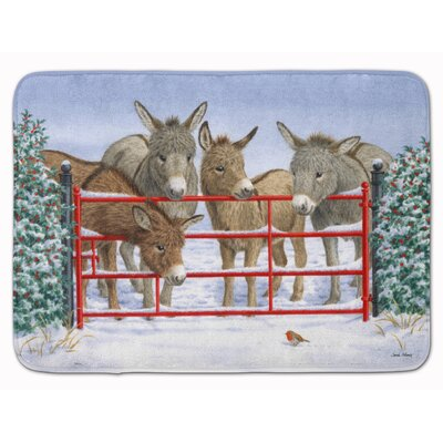 Donkeys and Robin Memory Foam Bath Rug