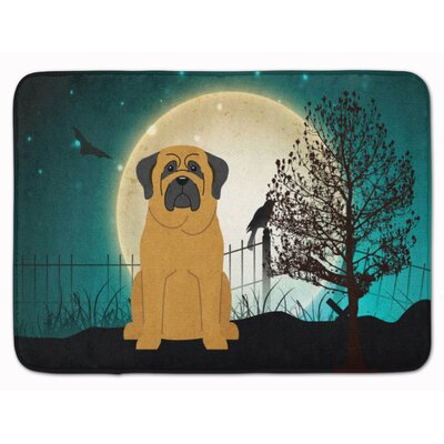 Halloween Scary Mastiff Memory Foam Bath Rug Color: Brown