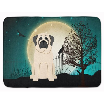 Testa Scary Mastiff Memory Foam Bath Rug Color: White