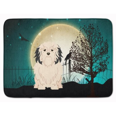Halloween Scary Lowchen Memory Foam Bath Rug