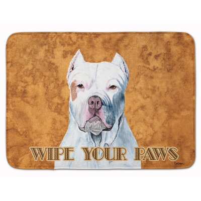 Pit Bull Wipe your Paws Memory Foam Bath Rug