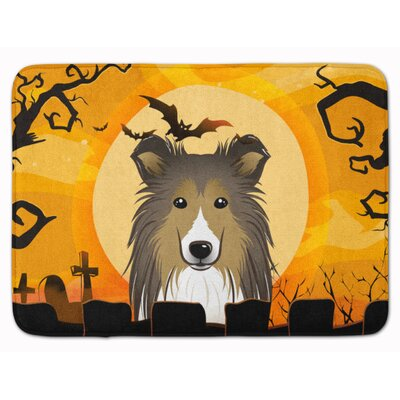 Halloween Sheltie Memory Foam Bath Rug