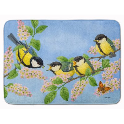 Great Tit Family of Birds Memory Foam Bath Rug