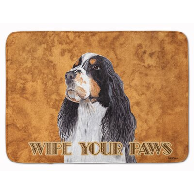 Springer Spaniel Wipe your Paws Memory Foam Bath Rug