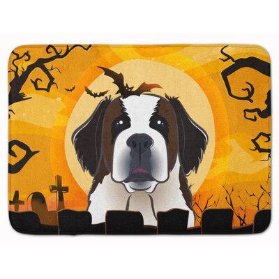 Halloween Saint Bernard Memory Foam Bath Rug