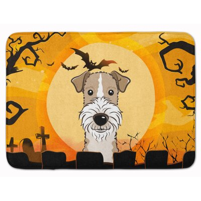 Halloween Wire Haired Fox Terrier Memory Foam Bath Rug