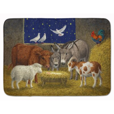 Animals Crib Nativity Christmas Scene Memory Foam Bath Rug
