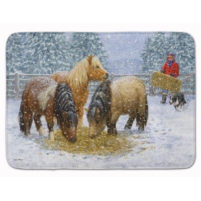 Amery Shetland Ponies Memory Foam Bath Rug