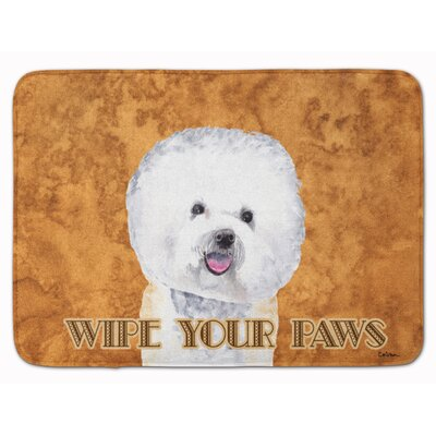 Bichon Frise Wipe your Paws Memory Foam Bath Rug