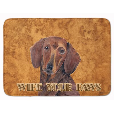 Dachshund Wipe your Paws Memory Foam Bath Rug
