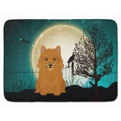 Halloween Scary Norwich Terrier Memory Foam Bath Rug