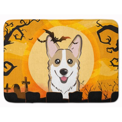 Halloween Sable Corgi Memory Foam Bath Rug