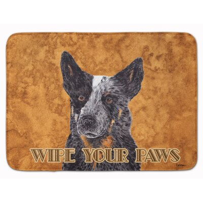 Australian Cattle Dog Wipe your Paws Memory Foam Bath Rug