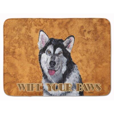 Alaskan Malamute Wipe your Paws Memory Foam Bath Rug