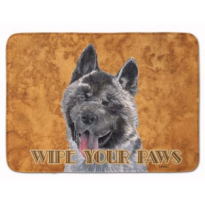 Akita Wipe your Paws Memory Foam Bath Rug