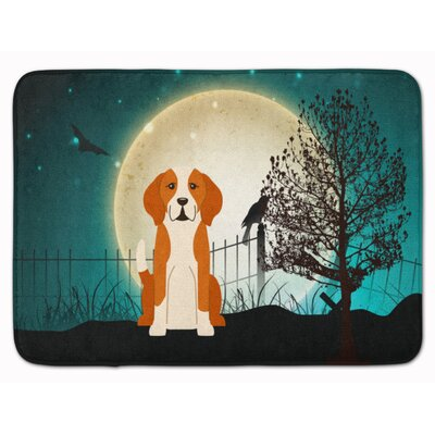 Halloween Scary English Foxhound Memory Foam Bath Rug