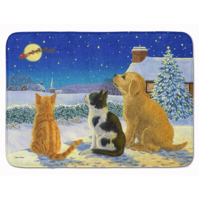 Retriever kittens Watching Santa Memory Foam Bath Rug