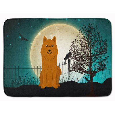 Halloween Scary Karelian Bear Dog Memory Foam Bath Rug