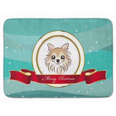 Chihuahua Merry Christmas Memory Foam Bath Rug