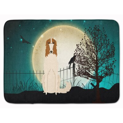 Halloween Scary Borzoi Memory Foam Bath Rug