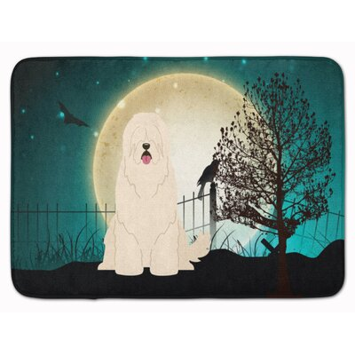 Halloween Scary South Russian Sheepdog Memory Foam Bath Rug