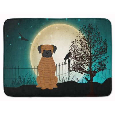 Halloween Scary Brindle Boxer Memory Foam Bath Rug