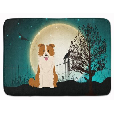 Halloween Scary Border Collie Memory Foam Bath Rug
